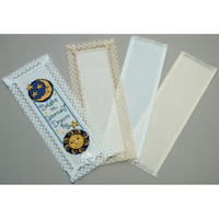 Lace Edged Bookmark 18 Count 3inX8inIvory