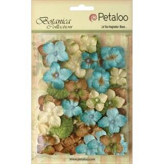 Floral Embellishments Velvet Hydrangeas 1in 36/PkgBlue