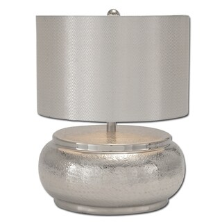 Katalina Handcrafted Silver Aluminum Table Lamp