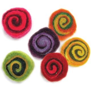 Feltworks Multicolor Spirals6/Pkg