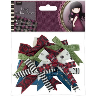 Santoro Tweed Large Ribbon Bows 12/Pkg