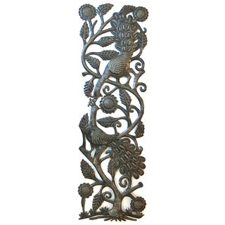 Handcrafted Recycled Steel Drum Peacocks Wall Art (Haiti)