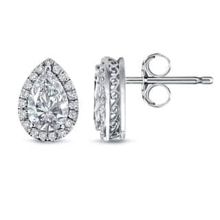 Auriya 14k White Gold 2 1/3ct TDW Pear Shape Diamond Studs https://ak1.ostkcdn.com/images/products/10513044/P17580710.jpg?impolicy=medium