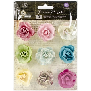 Garden Fable Mulberry Paper Flowers 9/PkgSpring .85in To 1in