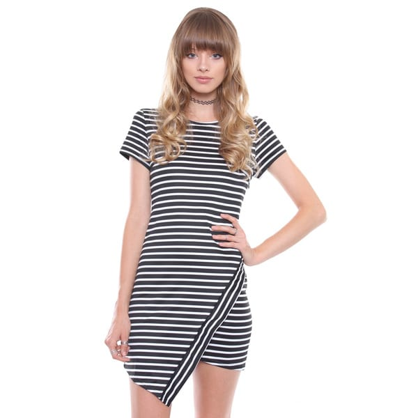 Shop Juniors Contemporary Black And White Striped