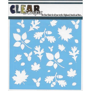 Clear Scraps Stencils 6inX6inFall Leaves Background