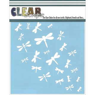 Clear Scraps Stencils 6inX6inDragonfly Wall