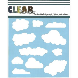 Clear Scraps Stencils 6inX6inClouds
