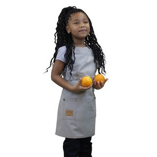 Kids Butcher Apron Railroad Stripe Denim