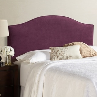 Humble + Haute Bingham Queen Size Plum Arched Upholstered Headboard