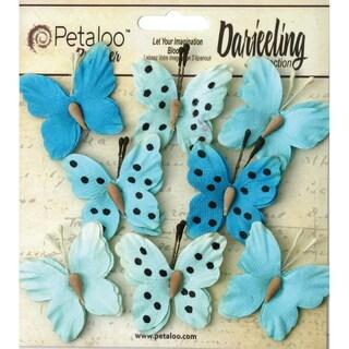 Darjeeling Teastained Butterflies 1.5in 8/PkgTeal