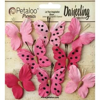 Darjeeling Teastained Butterflies 1.5in 8/PkgPink