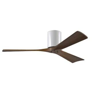 Matthews Fan Company Irene 52-inch 3-blade Walnut Paddle Ceiling Fan - White