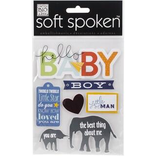 Soft Spoken Themed EmbellishmentsLittle Man Baby Boy