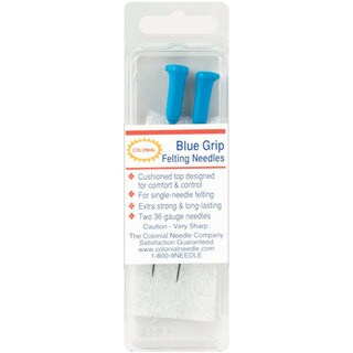 Blue Grip Felting Needles 2/PkgSize 36