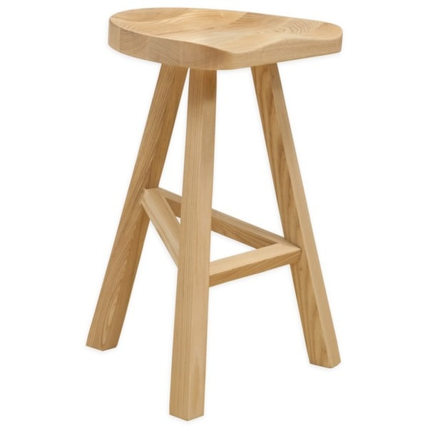Mod Made Hemi Contemporary Natural Wood Counter Stool for Bar (26-inch High)  sc 1 st  Overstock.com : natural wood counter stools - islam-shia.org