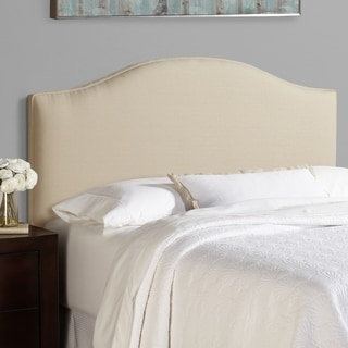 Humble + Haute Bingham Queen Size Ivory Linen Blend Arched Upholstered Headboard