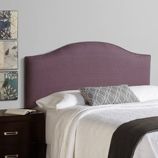Humble + Haute Bingham Queen Size Iris 100-percent Linen Arched Upholstered Headboard