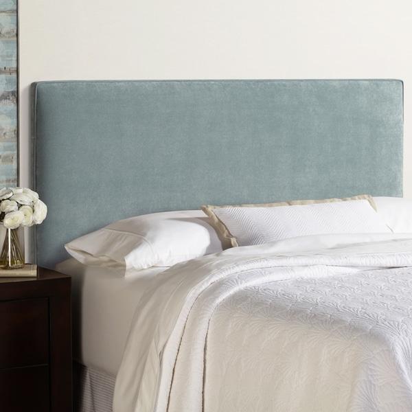 Humble + Haute Bingham Blue Velvet Upholstered Headboard