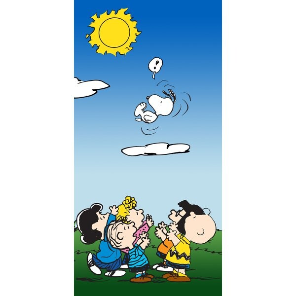 Marmont Hill - Snoopy Flying Peanuts Print on Canvas - Multi-color