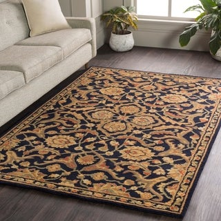 Hand-Tufted Blyth Floral Wool Area Rug