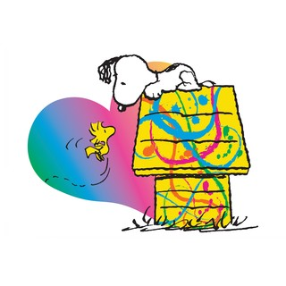 Marmont Hill - Woodstock and Snoopy Heart Peanuts Print on Canvas