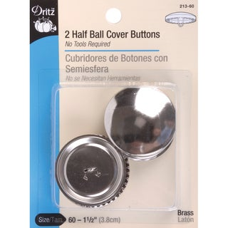 HalfBall Cover ButtonsSize 60 11/2in 2/Pkg