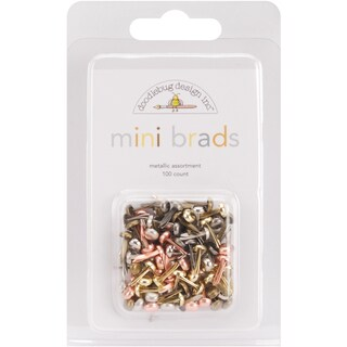 Mini Brads .125in 100/PkgMetallic