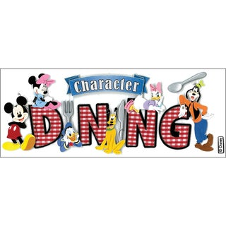 Disney Title Dimensional StickersMickey Character Dining