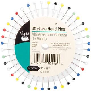 Glass Head PinsSize 20 40/Pkg