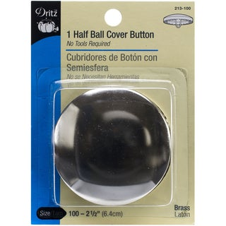 HalfBall Cover ButtonsSize 100 21/2in 1 Pkg