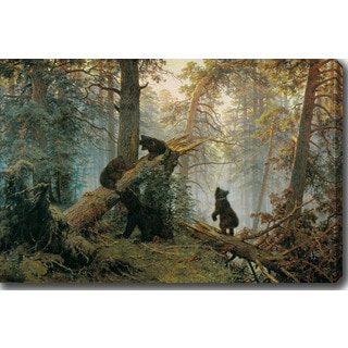 Ivan Shishkin 'Morning in a Pine Forest' Oil on Canvas Art