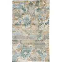 Hand-Knotted Virgil Abstract Indoor Area Rug - 9' x 13'