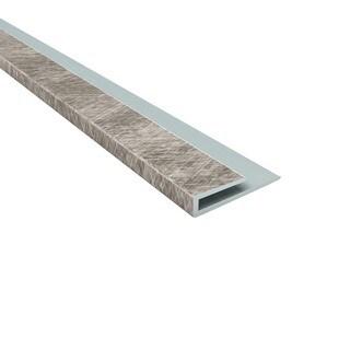 Fasade Fasade 4-foot J-Trim Crosshatch Silver