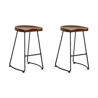 Potter Wood 26-inch High Counter Stool (Set of 2)