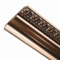 Grand Baroque 8-Foot Wood Ceiling Crown Molding Polished Copper
