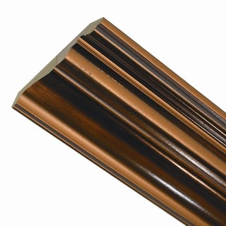 Classic 8-Foot Wood Ceiling Crown Molding Oil-Rubbed Bronze