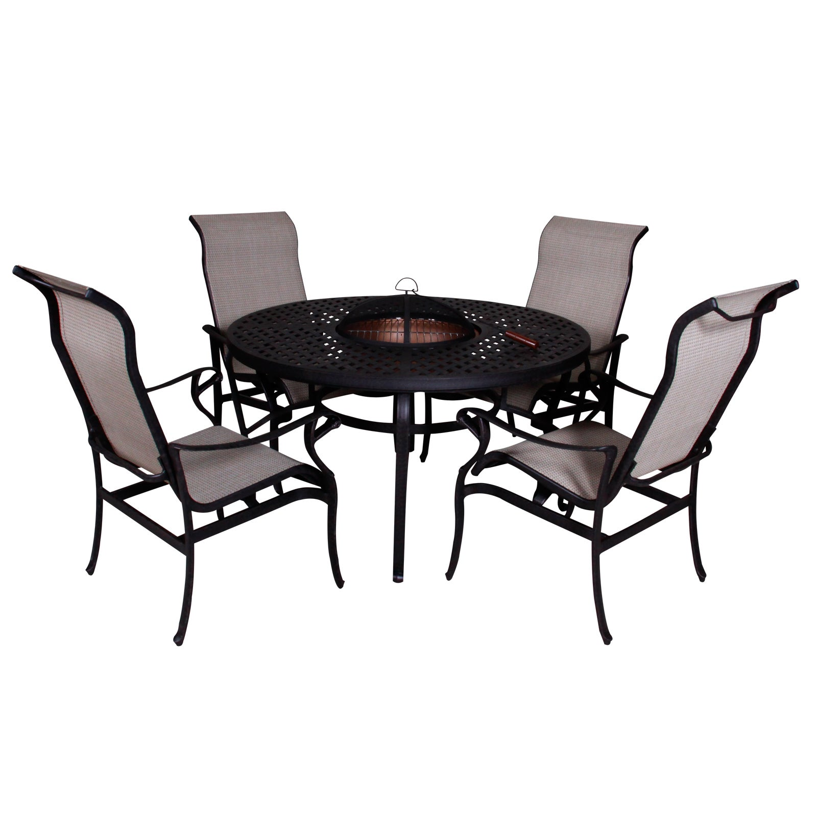 Lorraine Dining Height Fire Pit Table and Chairs (5-piece...