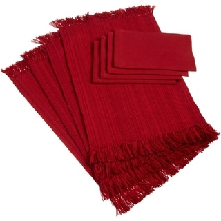 Fringe Placemat and Napkin Set