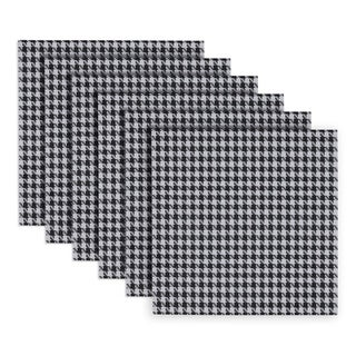 Indoor/ Outdoor Houndstooth Placemat (Set of 6)