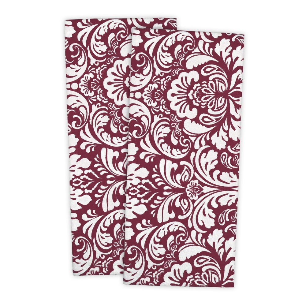 Shop DII Damask Kitchen Dishtowels (Set of 2) - Overstock - 10513703