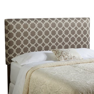 Humble + Haute Bingham Queen Size Taupe/ Ivory Upholstered Headboard