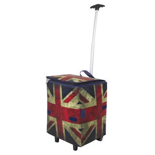 As Seen On TV British Flag City Smart Cart Plus Rolling Shopper Tote