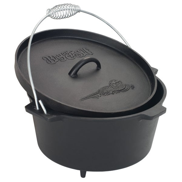 Shop Bayou Classic 174 7360 8 Qt Camp Dutch Oven With Feet