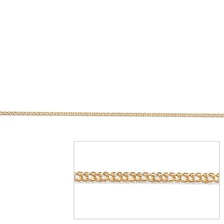 PalmBeach Tailored 10k Yellow Gold Double Curb-Link 20-inch Necklace