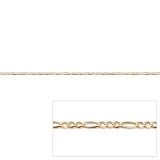 PalmBeach Tailored 10k Yellow Gold Figaro Link 1.6 mm Chain