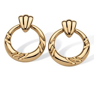 Tailored 14k Gold Nano Diamond Resin-filled Decorative Circle Earrings
