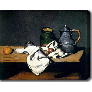 Paul C�zanne 'Still Life with Kettle' Oil on Canvas Art