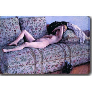 Gustave Caillebotte 'Nude on a Couch' Oil on Canvas Art