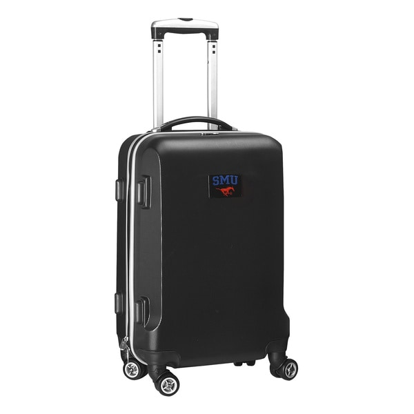 Denco Sports NCAA SMU Mustangs 20-inch Hardside Carry-on Spinner Suitcase